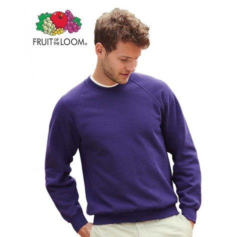 Felpa con manica raglan Fruit of the Loom personalizzabile pugliasistemi.com