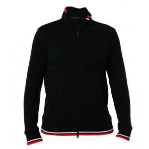 airforce polo fullzip con collo, polsi e vita in rib