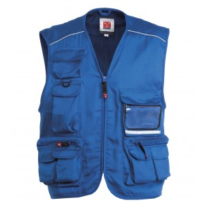 POCKET gilet da lavoro multitasche blu royal