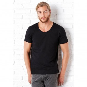 Bella+Canvas T-shirt uomo scollo largo